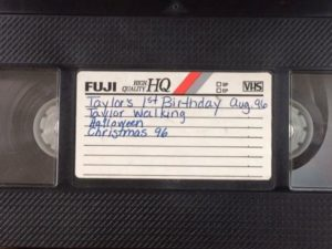 Video tape cover that identifies the orgin and story inside the tape